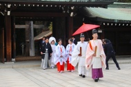 Wedding at Meiji Shrine